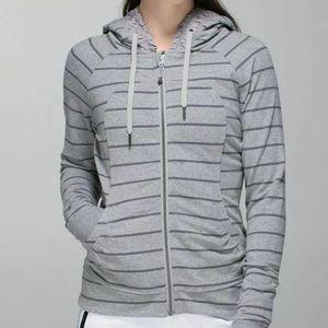 Lululemon Movement Jacket Cayman Stripe Grey
